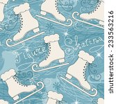 seamless pattern with skates.... | Shutterstock .eps vector #233563216