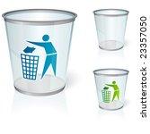glass bin | Shutterstock .eps vector #23357050
