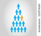 people pyramid in vector... | Shutterstock .eps vector #233576365