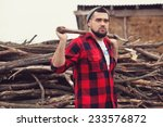 stylish young man posing like... | Shutterstock . vector #233576872