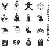 vector christmas icons  | Shutterstock .eps vector #233580172