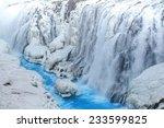 Frozen Waterfall With Clea Blu...