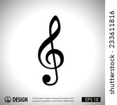 pictograph of music key | Shutterstock .eps vector #233611816