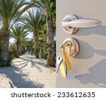 open white door with a view of... | Shutterstock . vector #233612635