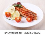 Grilled Salmon And Vegetables...