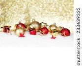 red and golden christmas balls... | Shutterstock . vector #233639332
