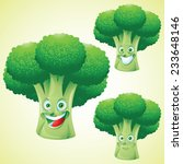 broccoli  face expression... | Shutterstock .eps vector #233648146