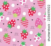 seamless strawberry pattern... | Shutterstock .eps vector #233655022