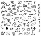 food icons vector drawings... | Shutterstock .eps vector #233655622