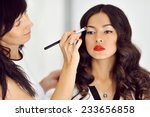 young beautiful asian woman... | Shutterstock . vector #233656858