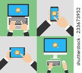 send email with electronic... | Shutterstock .eps vector #233673952