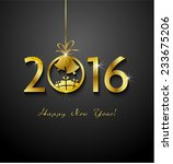 2016 merry christmas and happy...   Shutterstock .eps vector #233675206