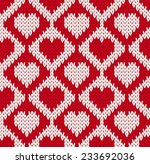 seamless knitted pattern with... | Shutterstock .eps vector #233692036