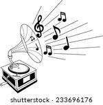 black and white illustration of ... | Shutterstock .eps vector #233696176