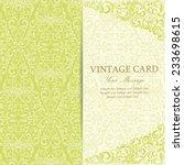 vintage invitation card. | Shutterstock .eps vector #233698615