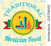 mexican food illustration over... | Shutterstock .eps vector #233708302