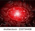 circuit board vector background ... | Shutterstock .eps vector #233734408