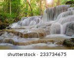 Waterfall In Deep Rain Forest...