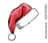 hand drawn christmas hat on...   Shutterstock .eps vector #233739382