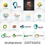 abstract company logo vector... | Shutterstock .eps vector #233742652