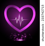 dark purple pulse light... | Shutterstock .eps vector #233742715