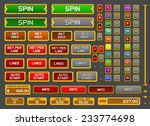 buttons for slots game. vector... | Shutterstock .eps vector #233774698