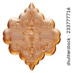 3d ancient gold ornament on a... | Shutterstock . vector #233777716