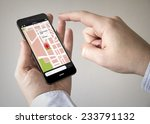 navigation via smart phone... | Shutterstock . vector #233791132
