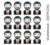 businessman avatar set | Shutterstock .eps vector #233791252