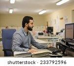 image of bearded hipster office ... | Shutterstock . vector #233792596