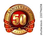 50 years anniversary golden... | Shutterstock .eps vector #233796058