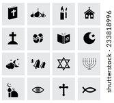 vector black religion icons set ...   Shutterstock .eps vector #233818996