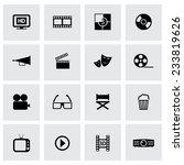 vector black cinema icons set... | Shutterstock .eps vector #233819626