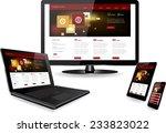 responsive website template on...   Shutterstock .eps vector #233823022