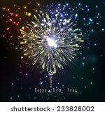 beautiful vector fireworks | Shutterstock .eps vector #233828002