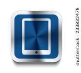 square metal button with tablet ...
