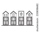set of silhouette houses flat... | Shutterstock .eps vector #233838682