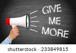give me more   motivation... | Shutterstock . vector #233849815
