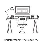line art of creative office... | Shutterstock .eps vector #233850292