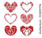 red rose in heart shape. | Shutterstock .eps vector #233859796