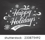 happy holidays greetings... | Shutterstock .eps vector #233875492