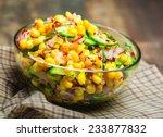 Food Vegetable Salad With Corn...