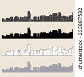 delhi skyline | Shutterstock .eps vector #233887582