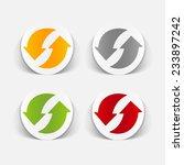 realistic design element  arrow ... | Shutterstock .eps vector #233897242