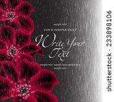 wedding card or invitation with ...   Shutterstock .eps vector #233898106