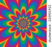 infinite flower op art design... | Shutterstock .eps vector #233901922