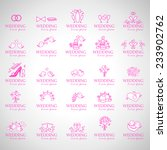 wedding icons set   isolated on ... | Shutterstock .eps vector #233902762
