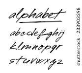 hand drawn vector alphabet ... | Shutterstock .eps vector #233903398