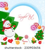 christmas background with... | Shutterstock .eps vector #233903656