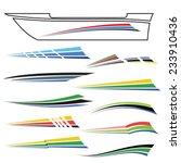 vector  illustration with boat...   Shutterstock .eps vector #233910436